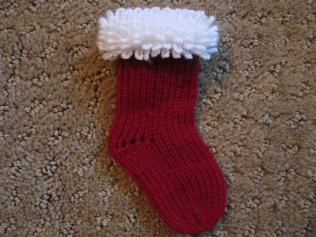 Knitting Pattern For Mini Christmas Stocking : Passap Miniature Christmas Stocking with carpet stitch ...