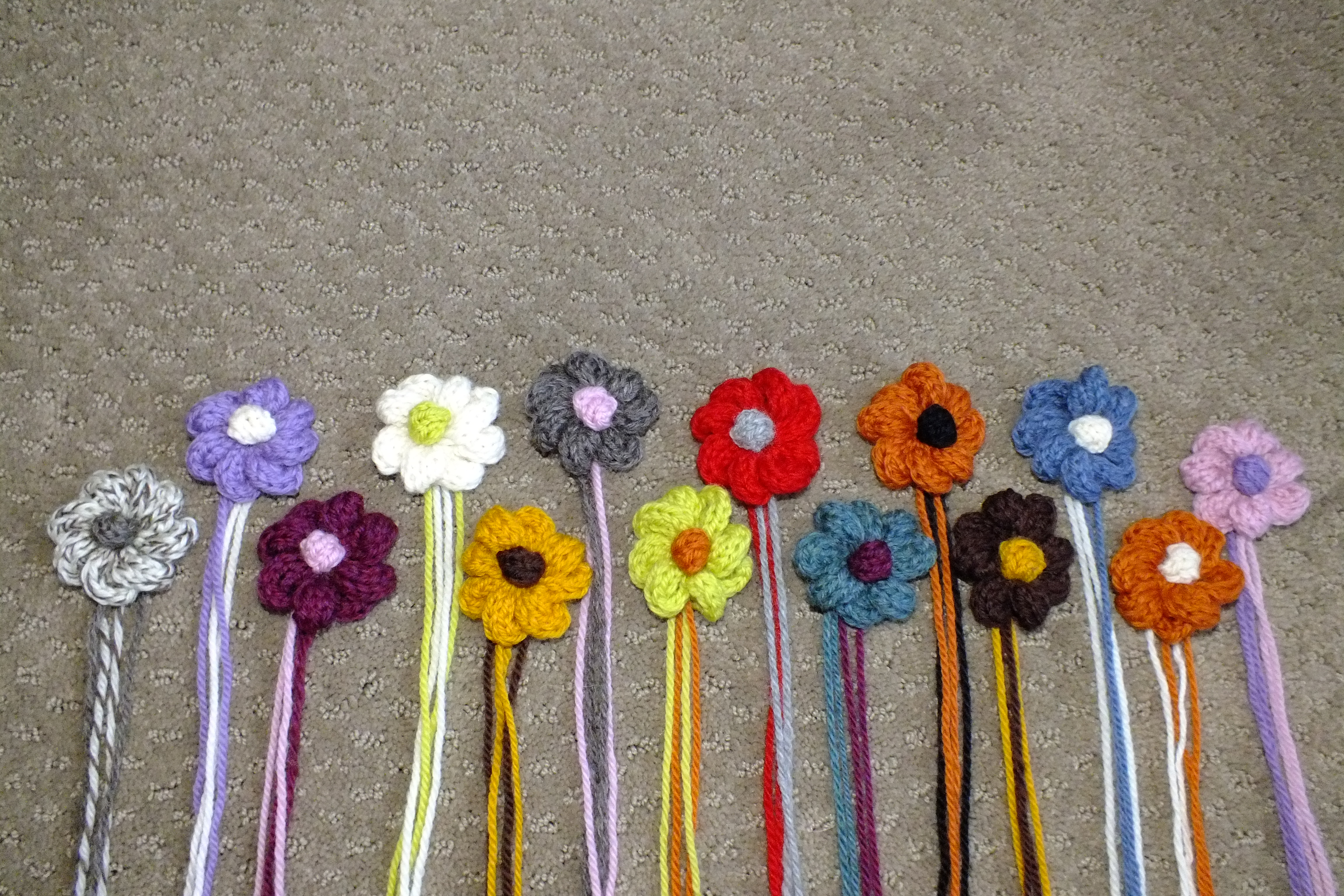 French Knitting Flowers : Knitted flowers cckittenknits s we