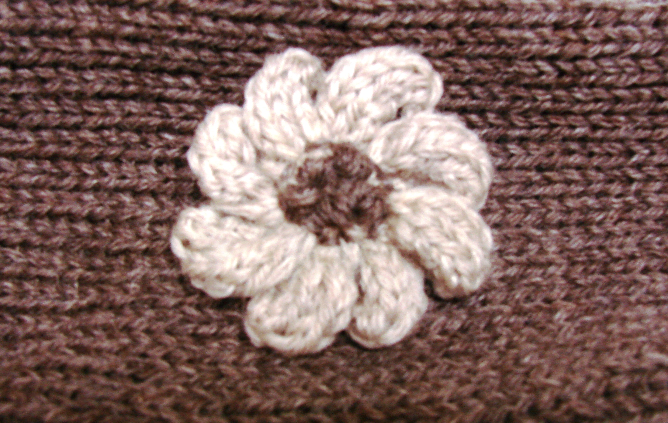 Machine Knitted Flower | Cckittenknits\'s Weblog