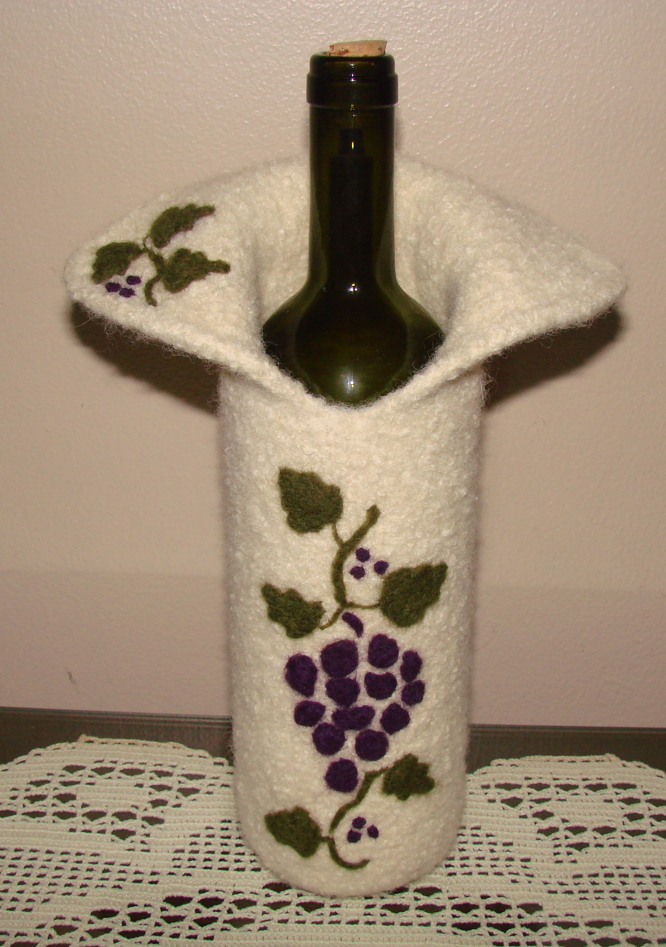 Some More Felted Wine Bottle Covers | Cckittenknits\'s Weblog