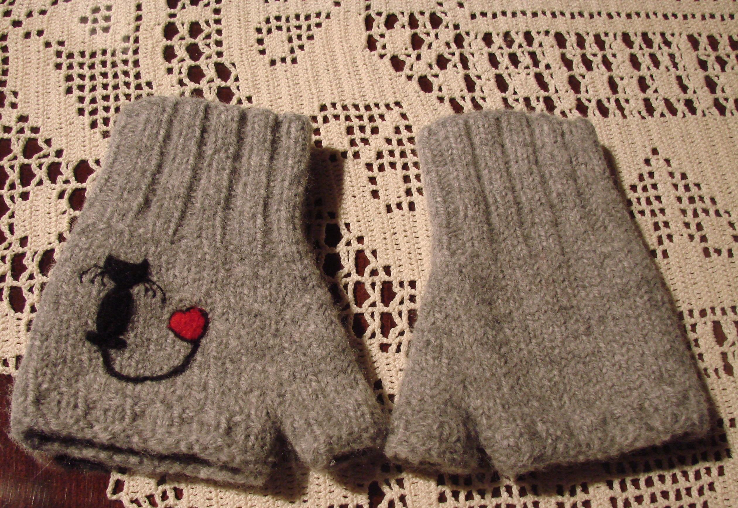 Felted Fingerless Gloves | Cckittenknits\'s Weblog