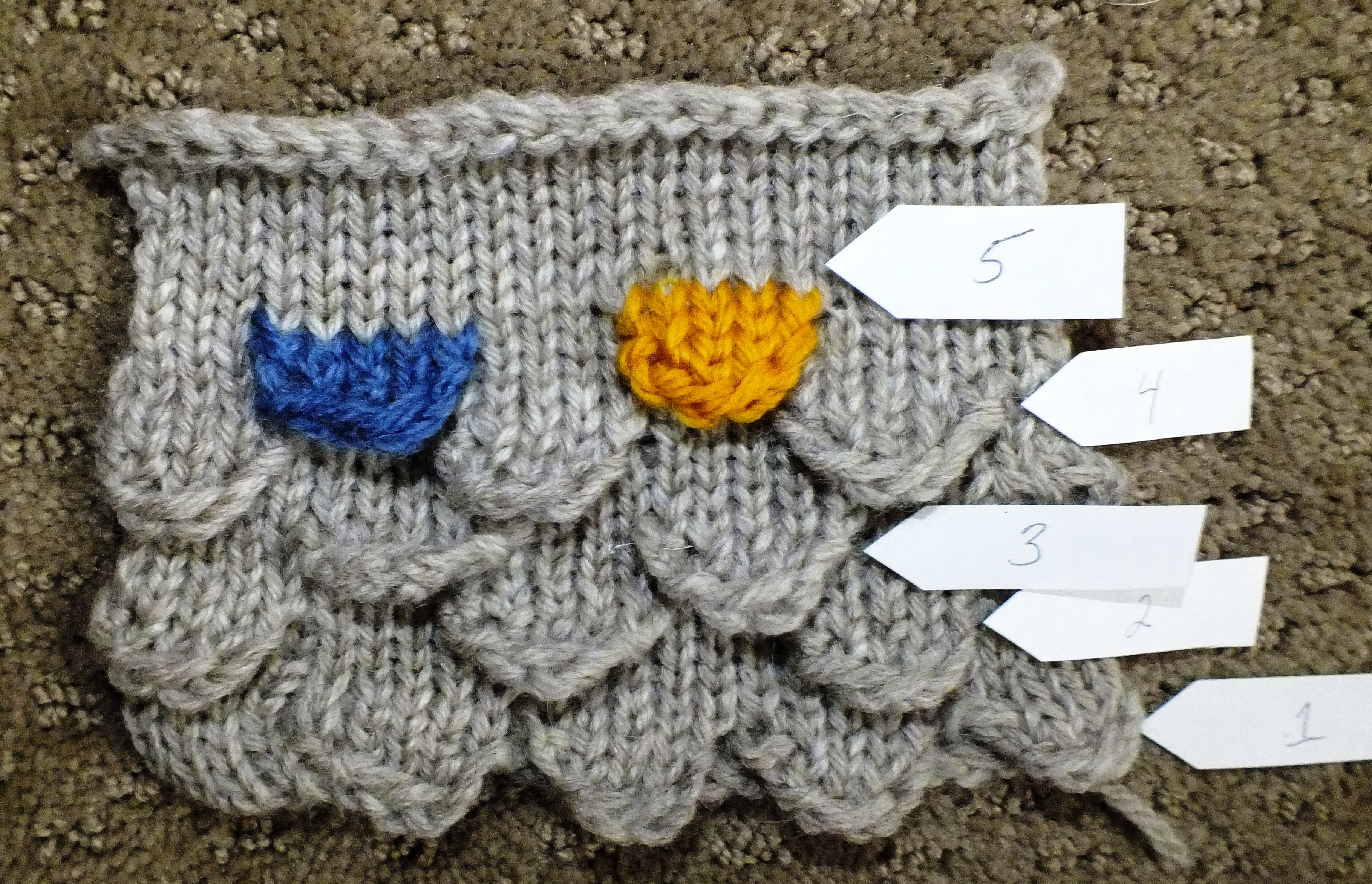 Knitted Fish Scales | Cckittenknits\'s Weblog