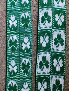 2 St Pat's day scarves