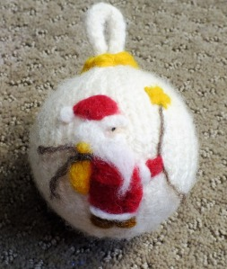 Felted Santa Ornament1