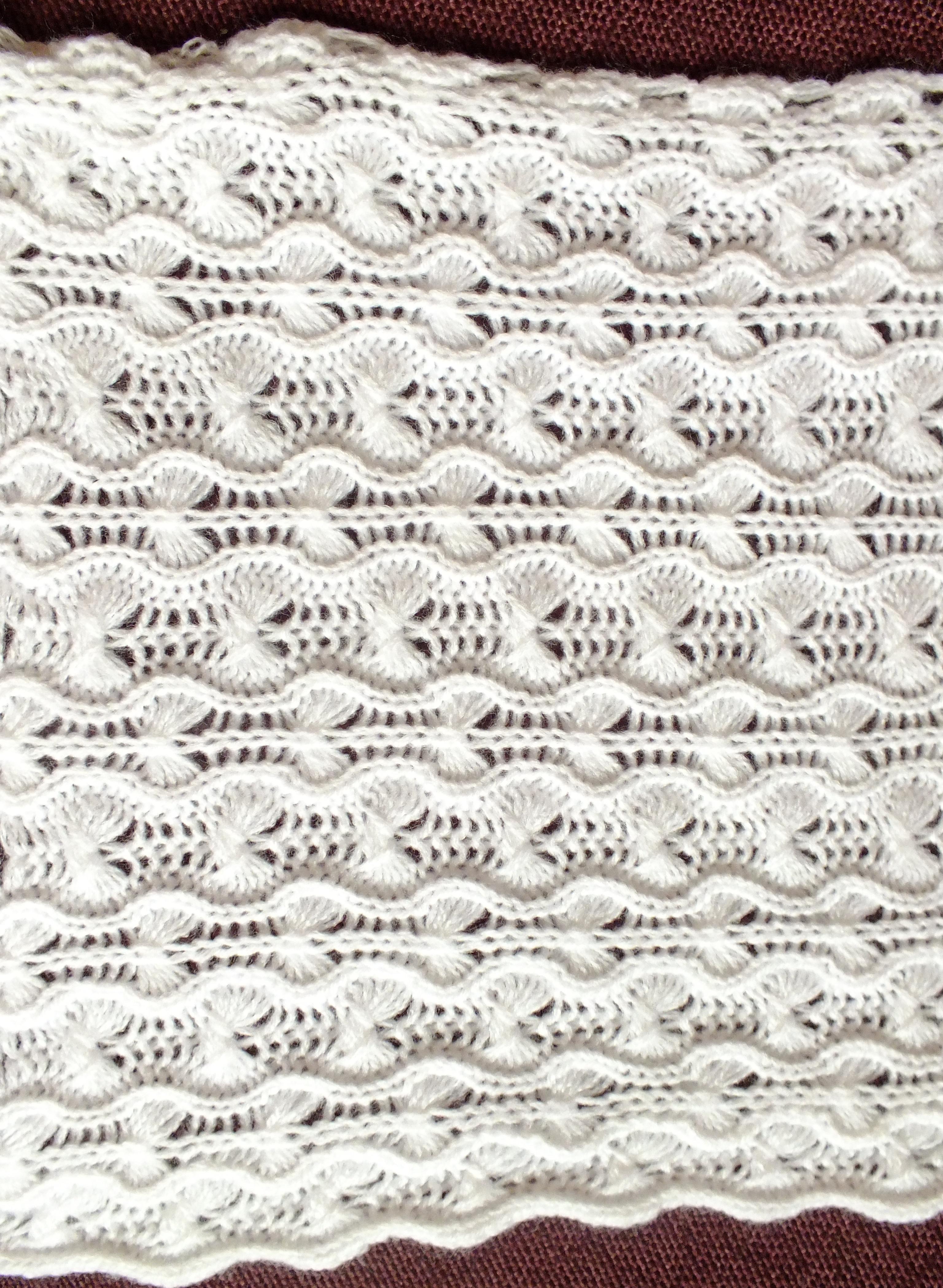 Passap Knitting Machine Patterns : Gossamer-tuck-lace-shawl-scarf on the passap E 6000 Cckittenknitss Weblog