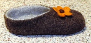 Felted Slipper Side View