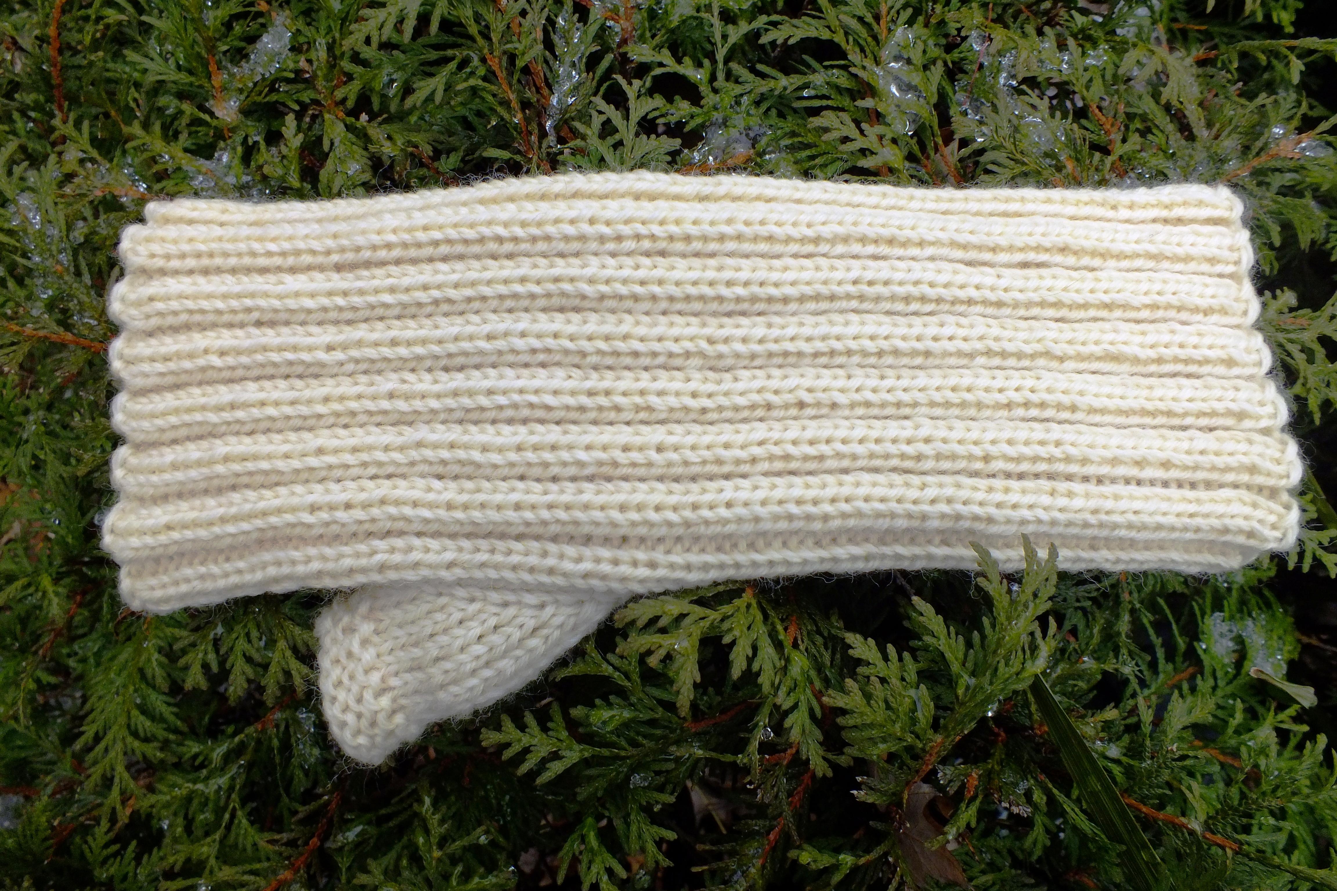 Kara s Fingerless Hand Knit Glove done on the Bulky Machine Cckittenknits