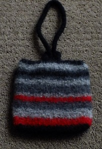 Felted pocket purse smallsize