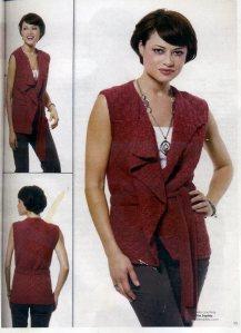 Sandi Prosser's Hand Knitted Draped Vest