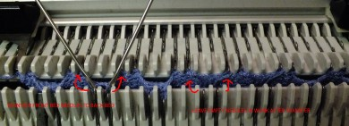 BUTTONHOLE IN 2 BY 2 RIBBING